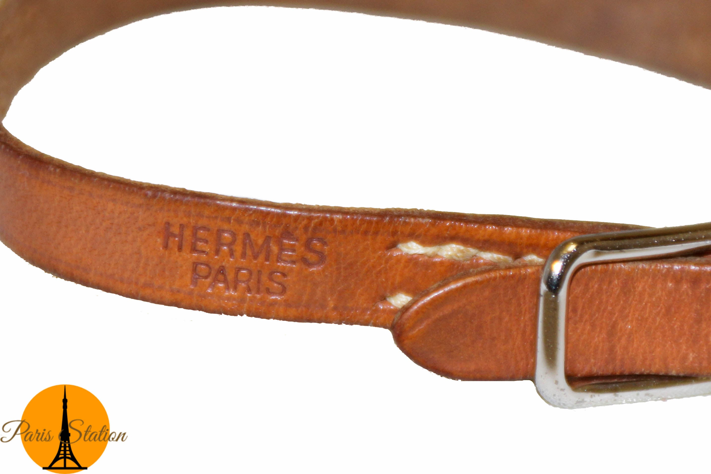 Authentic Hermès Brown Simple Tour Bracelet