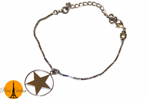 Authentic Christian Dior Silver-Tone Star Bracelet