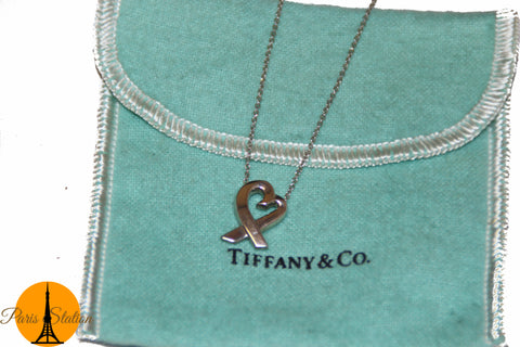 Authentic Tiffany & Co. Sterling Silver Picasso Heart Necklace
