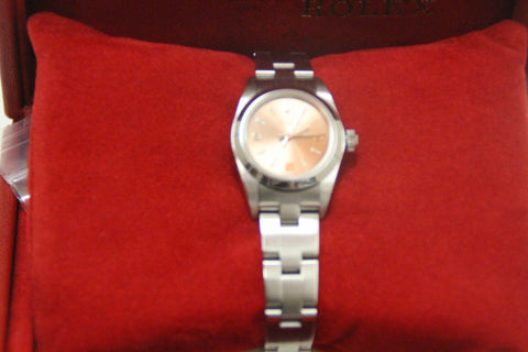 Authentic Rolex Ladies Pink Small Oyster Perpetual Watch