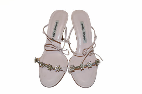 Authentic Manolo Blahnik Light Pink Sandal Size 36