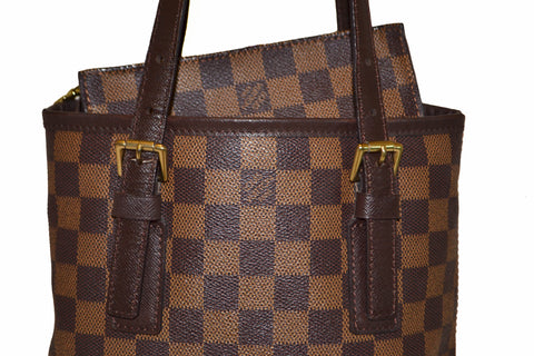 Authentic Louis Vuitton Damier Ebene Bucket PM Shoulder Bag