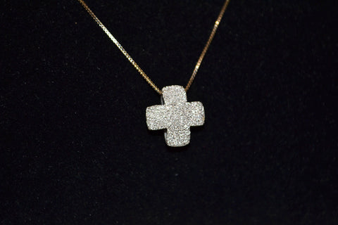 Authentic Folli Follie 18K Cross Pendant Necklace