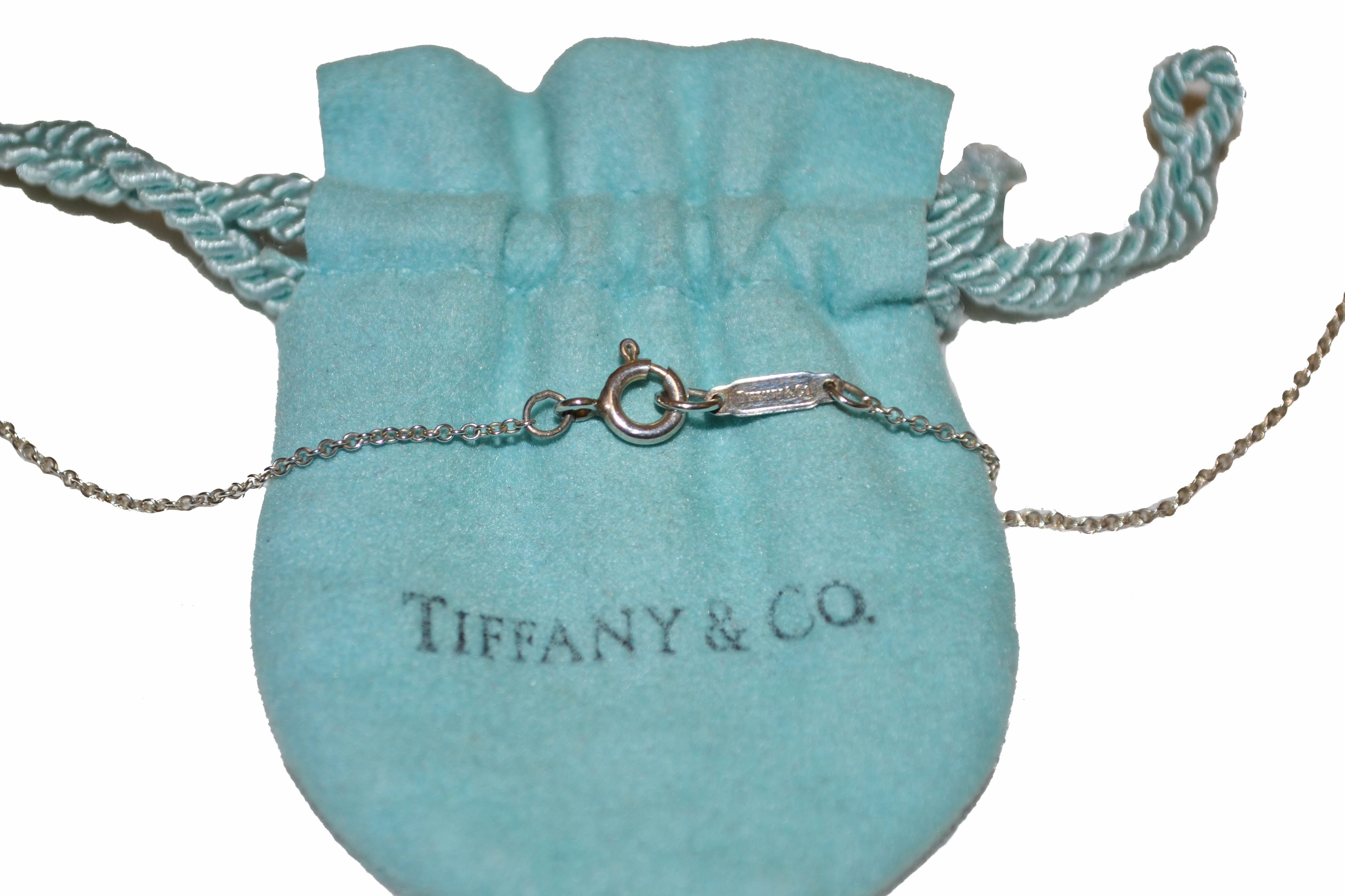 "Authentic Tiffany & Co. Paloma Picasso Loving Heart 16.5"" Sterling Silver Necklace"