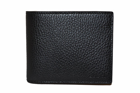 New Authentic Gucci Black Men's Leather Bi-Fold Wallet