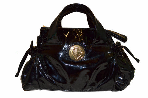 Authentic Gucci Hysteria Collection Black Patent Leather Handbag