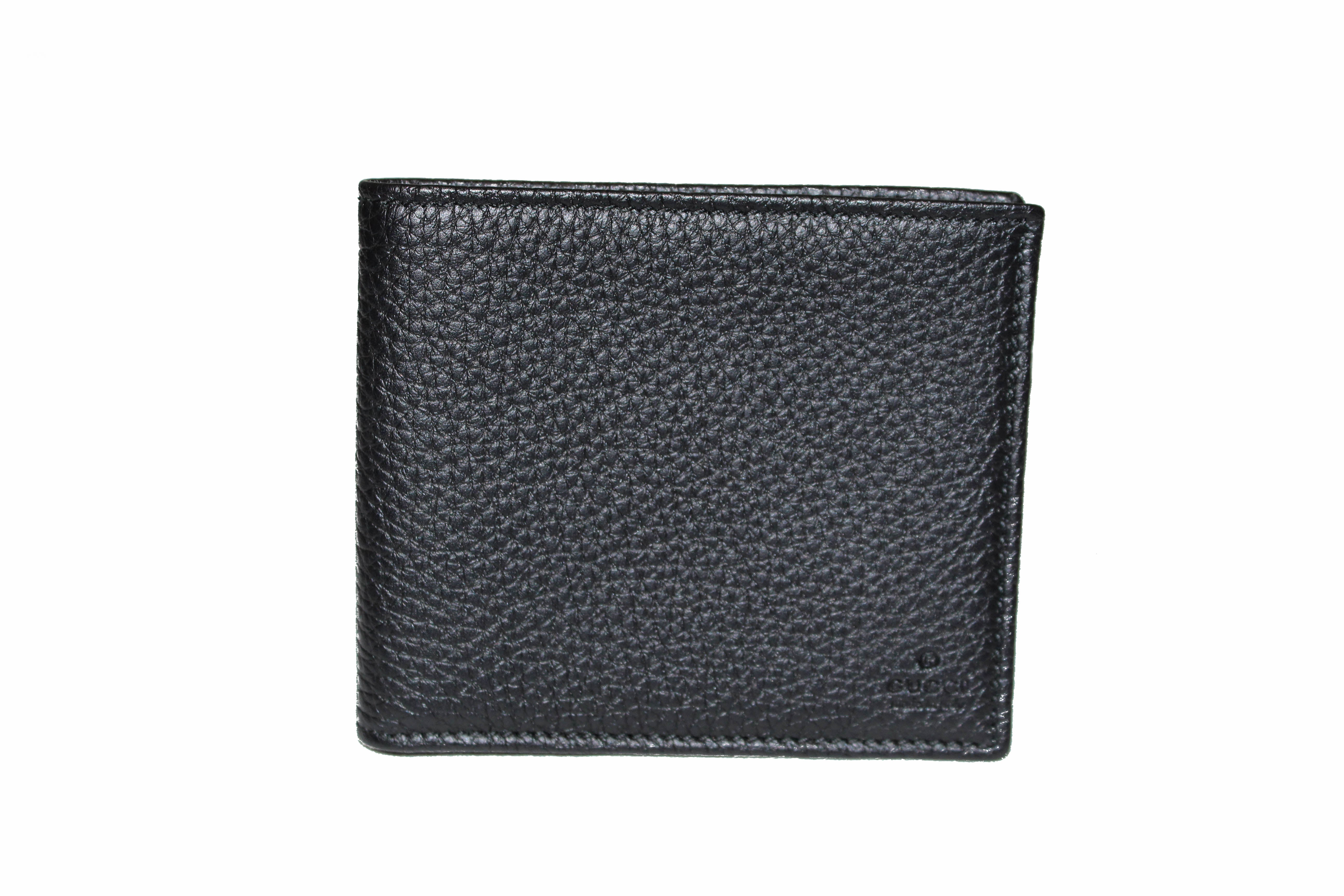 Authentic New Gucci Black Soho Leather Bifold Men's Wallet