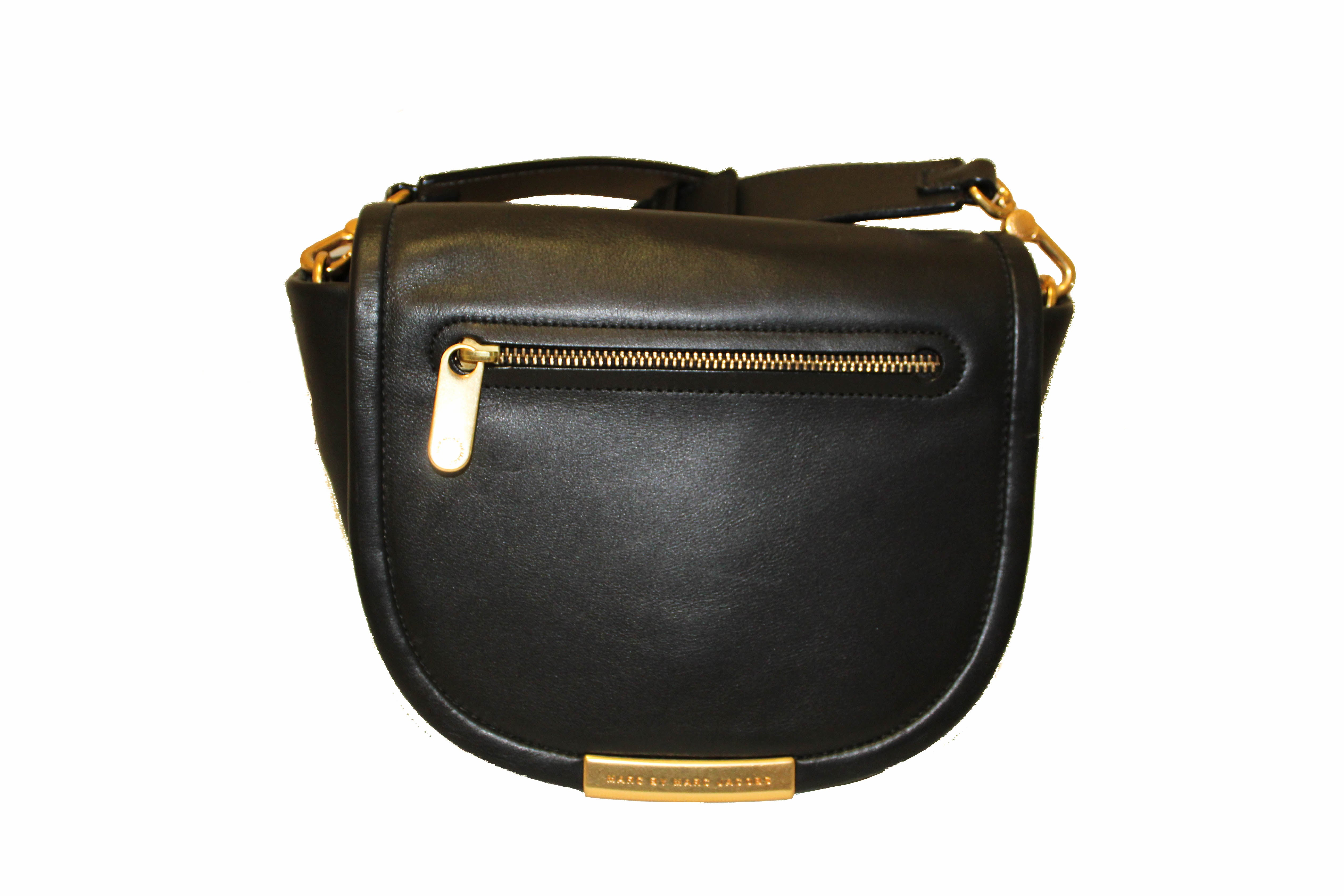 Authentic Marc Jacobs Black Calfskin Leather Crossbody Bag