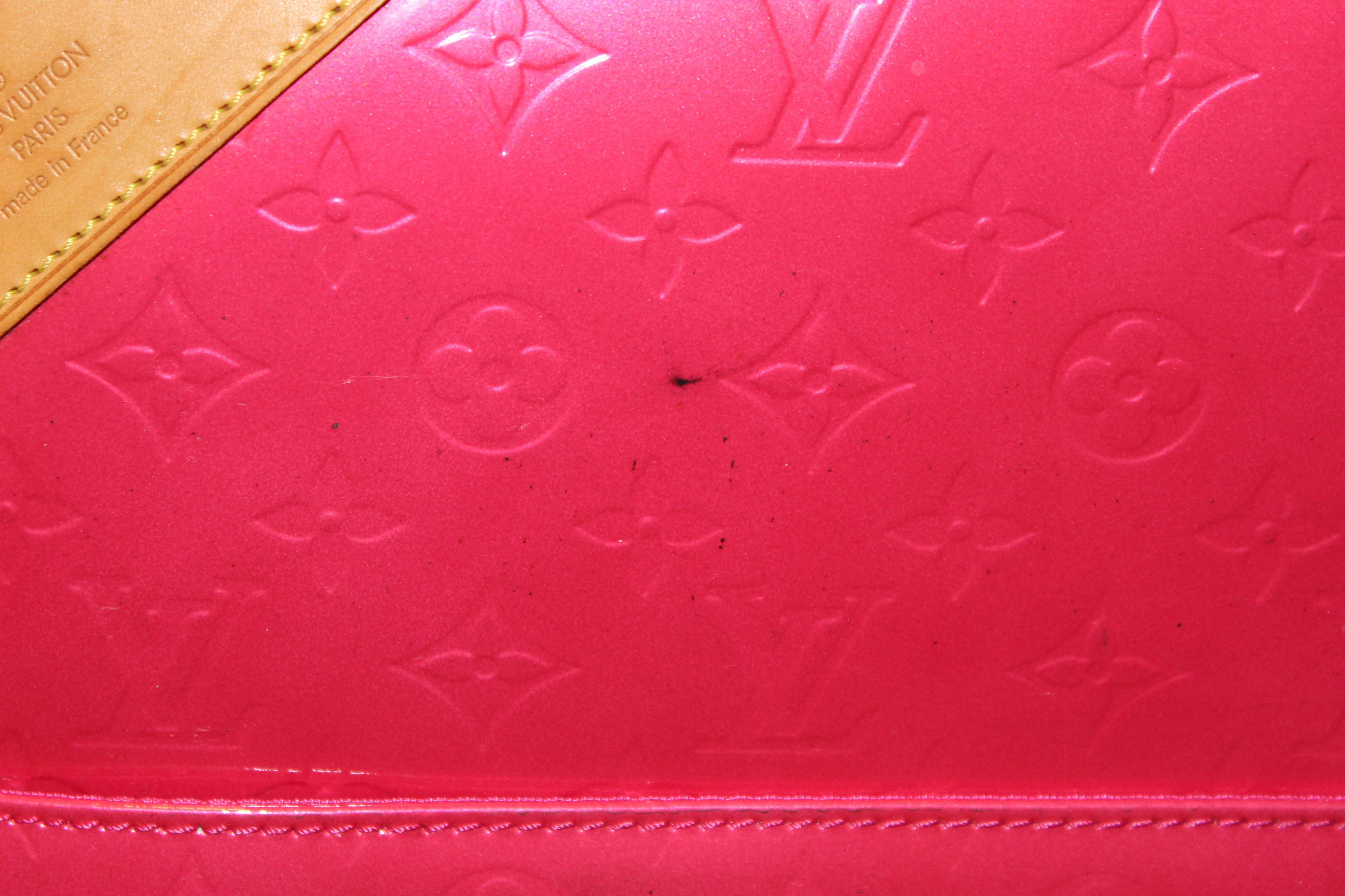 Authentic Louis Vuitton Pink Monogram Vernis Leather Pegase 45 Luggage