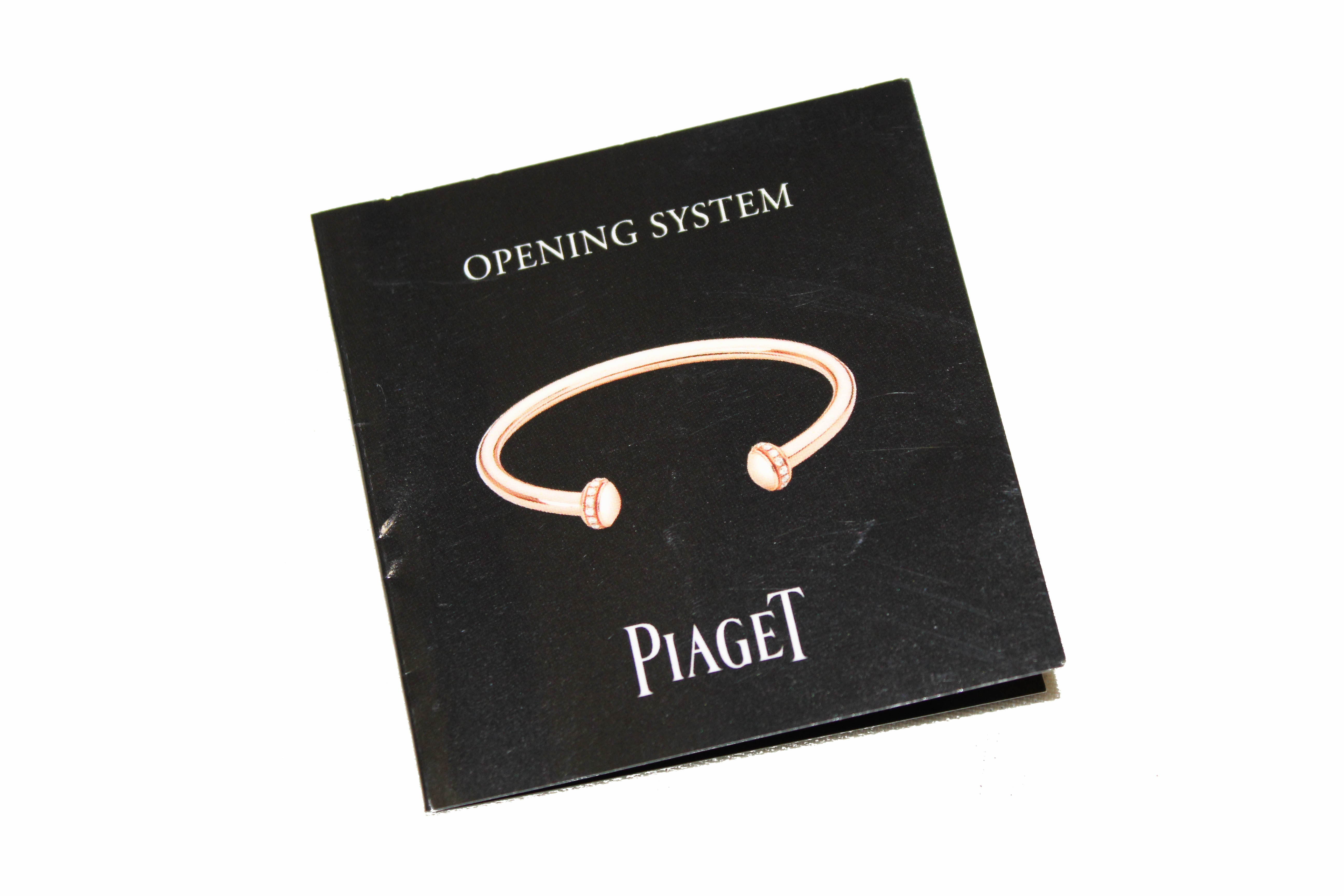 Authentic New Piaget Possession Open Bangle Bracelet in Rose Gold 16