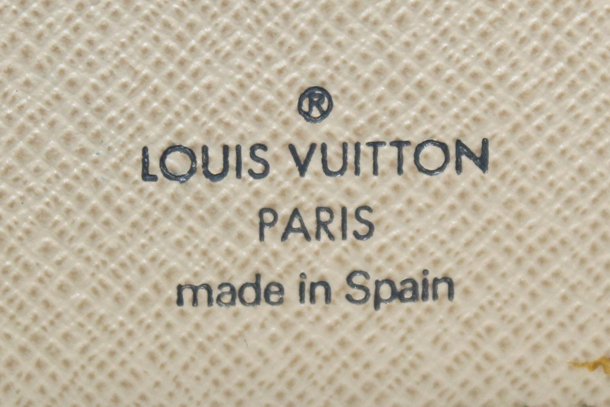 Authentic Louis Vuitton Damier Azur Koala Wallet