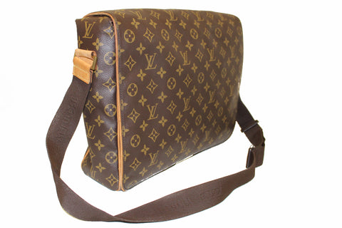 Authentic Louis Vuitton Classic Monogram Abes Messenger Bag