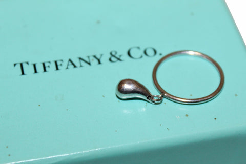 Authentic Tiffany & Co. Elsa Peretti Dangling Tear Drop Ring Size 4.5