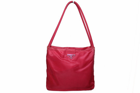 43d8ca339c4b Authentic Prada Red Nylon Small Shoulder Bag ...