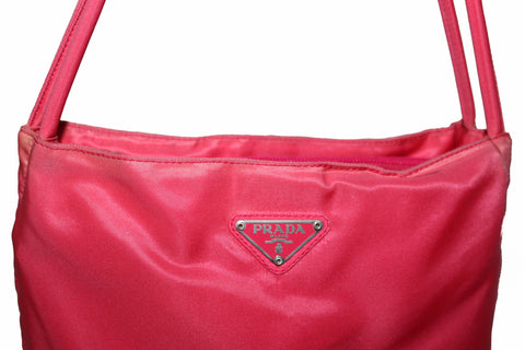 30abf7cb0010 Authentic Prada Red Nylon Small Shoulder Bag