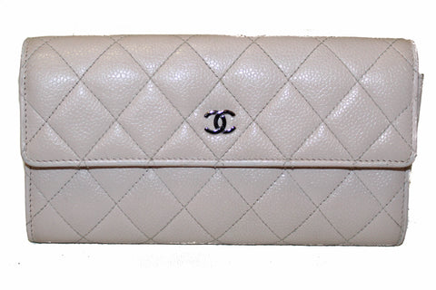 665f459eda6b Authentic Chanel Light Pink Quilted Caviar Flap Wallet ...