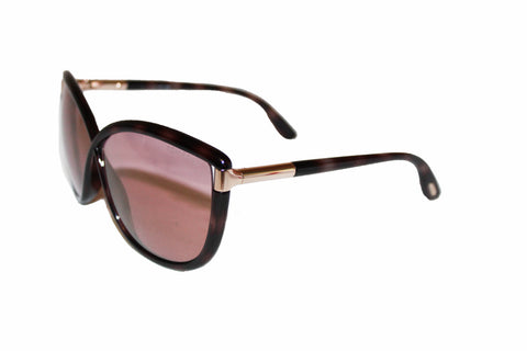 Authentic Tom Ford Brown Women's Abbey Oversized Sunglasses