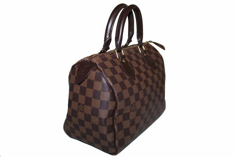 Authentic Louis Vuitton Damier Ebene 25 Hand Bag