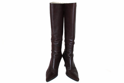 6aeeeb76f Authentic Gucci Brown Leather Tall Boots Size 7.5 ...