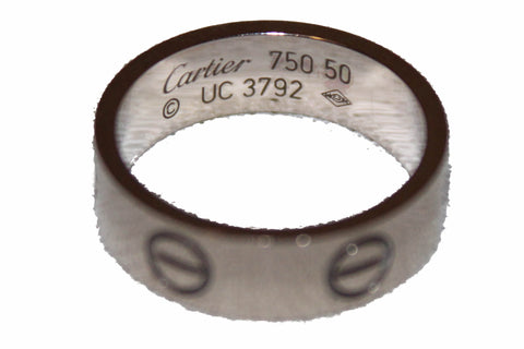 Authentic Cartier 18K White Gold LOVE Ring Size 5