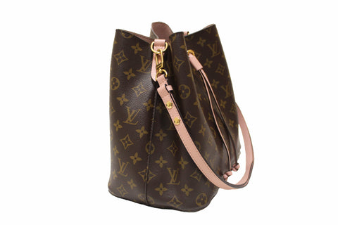 Authentic Louis Vuitton Classic Monogram Pink NeoNoe Shoulder Bag