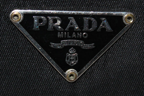 Authentic Prada Black Nylon Flap Wallet