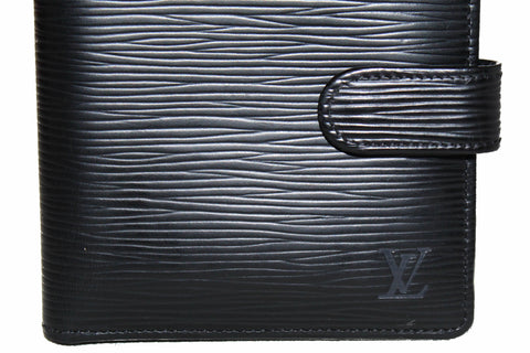 Authentic Louis Vuitton Black Epi Leather Bi-Fold Wallet