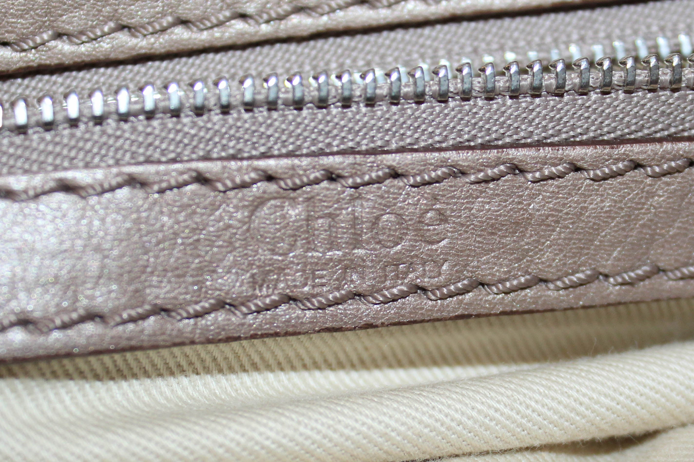 Authentic Chloe Vintage Taupe Calf Leather Handbag
