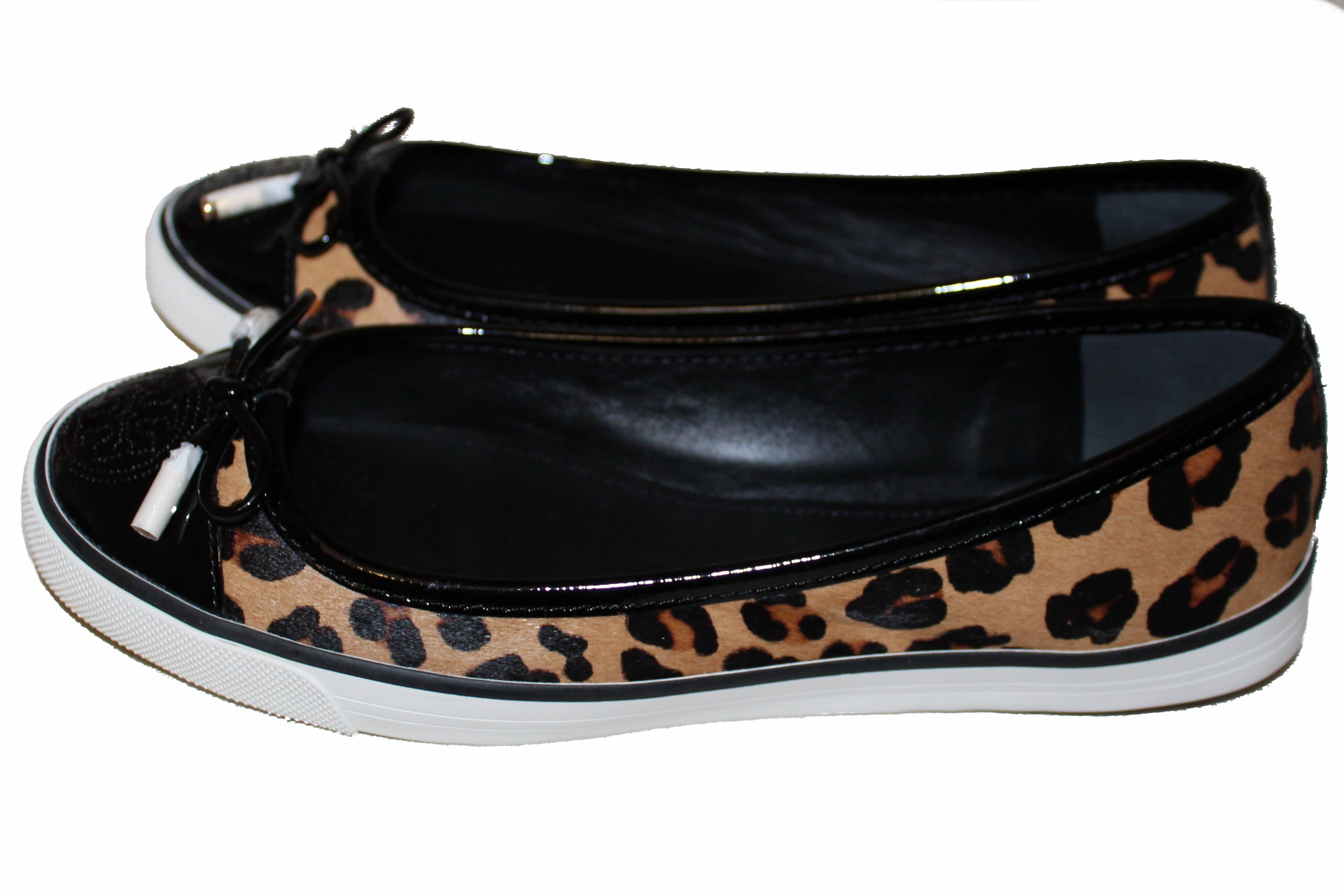 Authentic NEW Tory Burch Leopard Print Flat Shoes Size 6.5