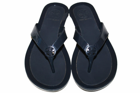 Authentic Tory Burch Navy Blue Jelly Thong Sandal Size 5