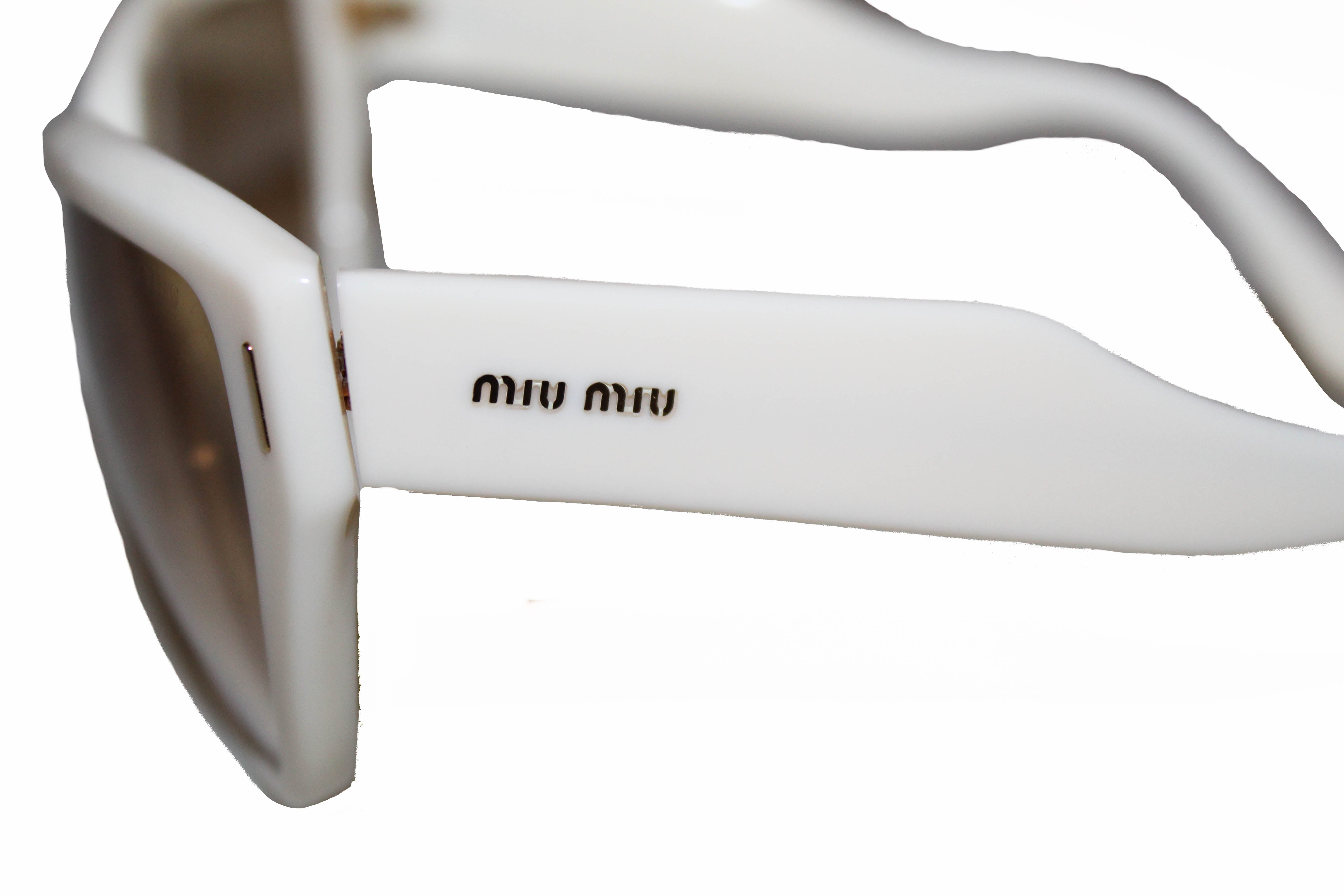 Authentic Miu Miu White Women's Sunglasses SMU09N