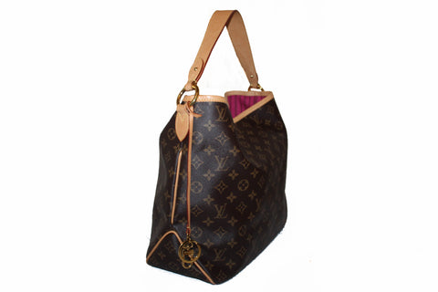 Authentic Louis Vuitton Classic Monogram Delightful MM Hobo Bag