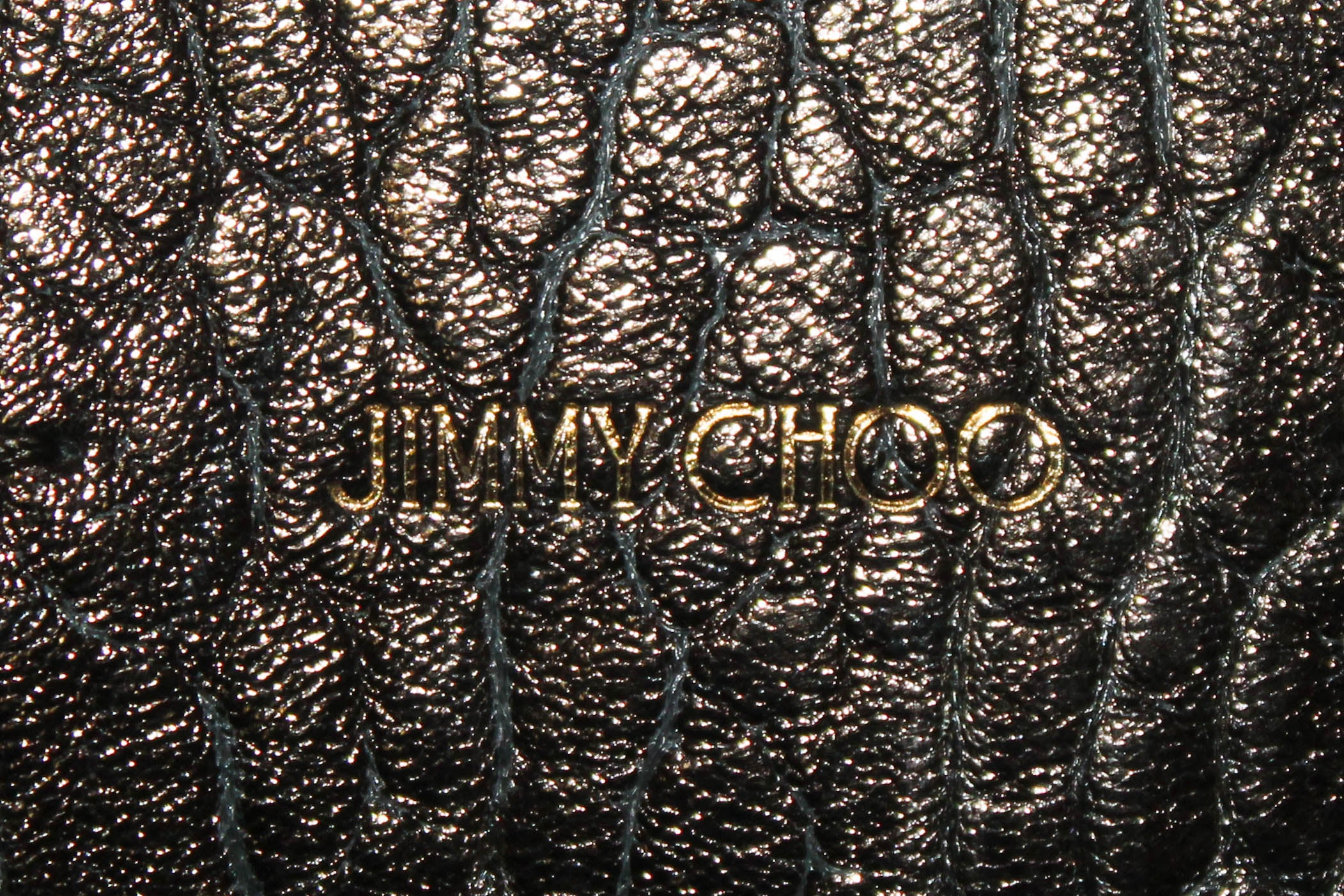 Authentic Jimmy Choo Ebony Metallic Artie Shoulder Bag