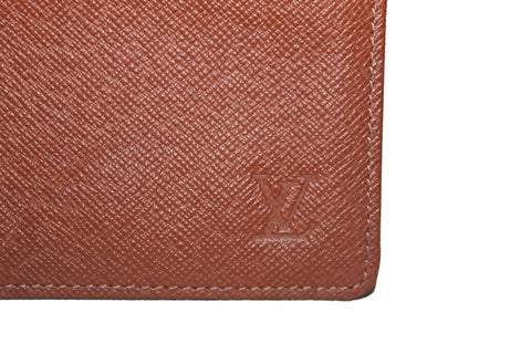Authentic Louis Vuitton Brown Taiga Leather Picture ID/Card Holder