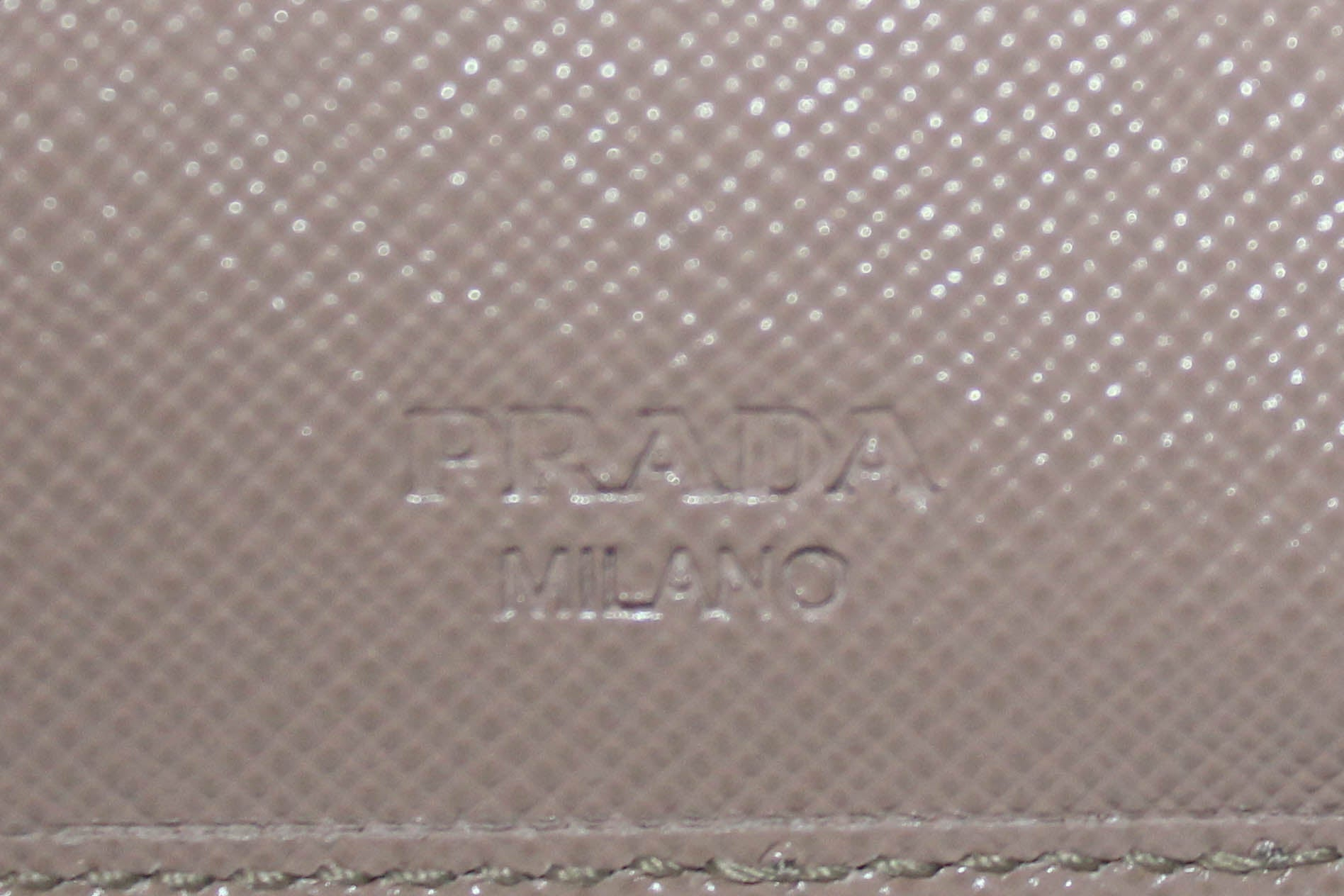 Authentic Prada Beige Saffiano Leather Tri-Fold Wallet