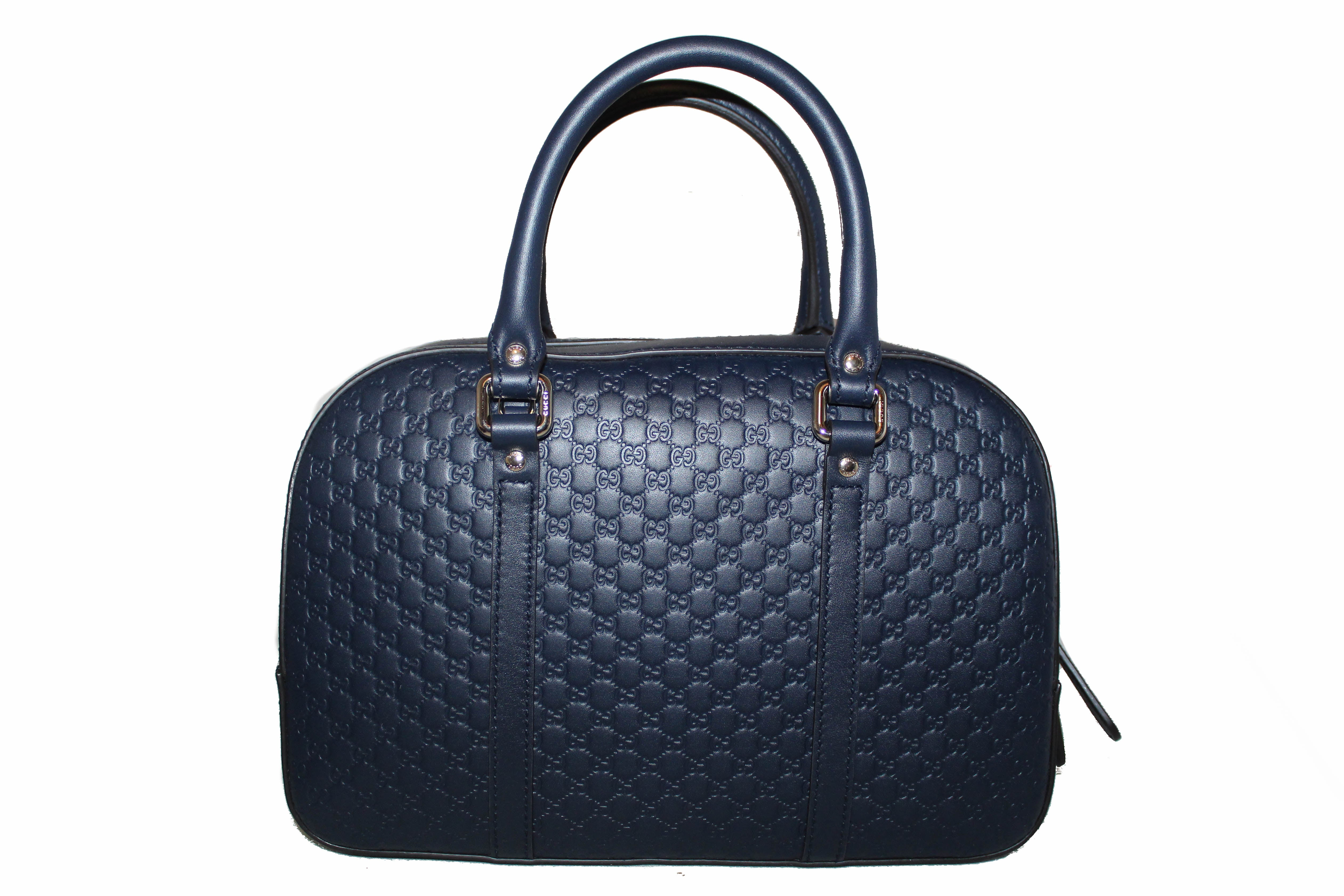 Authentic New Gucci GG MicroGuccissima Navy Blue Small Bag