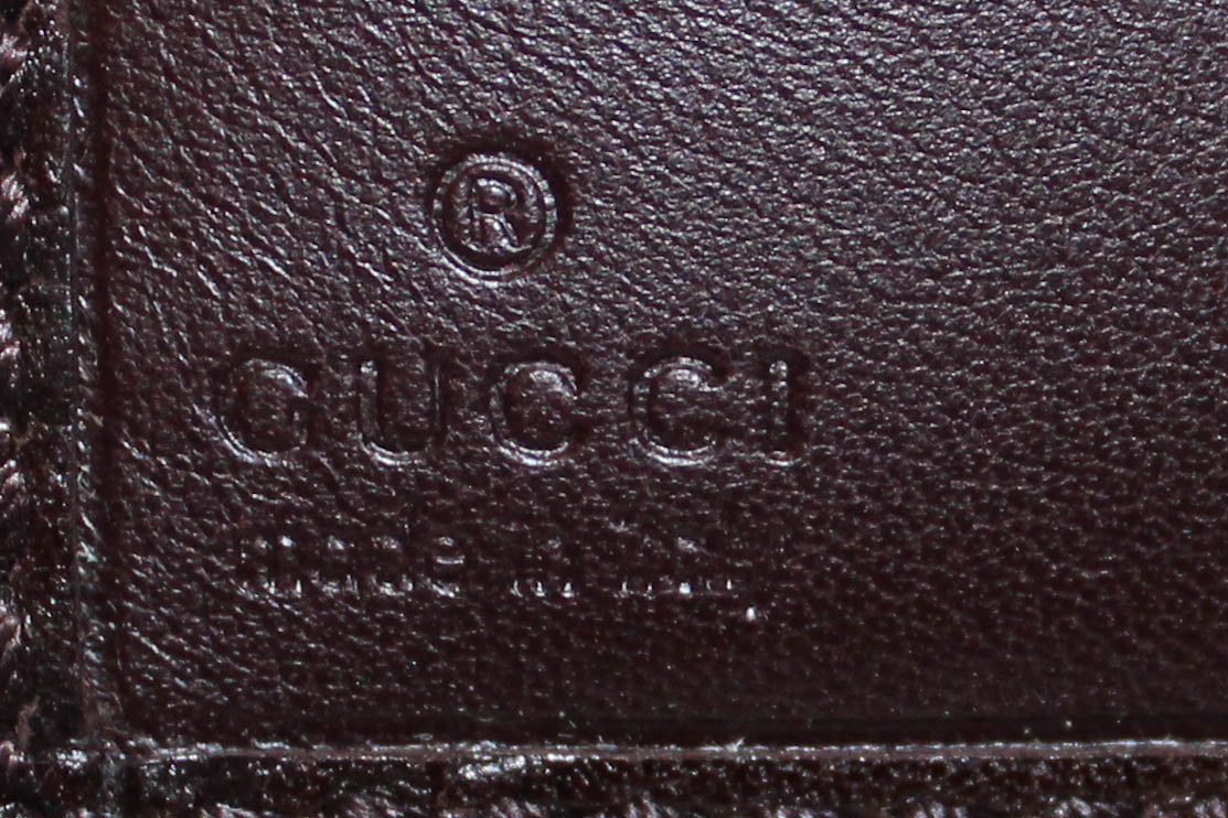 Authentic Gucci Dark Brown Guccissima Leather Small Wallet