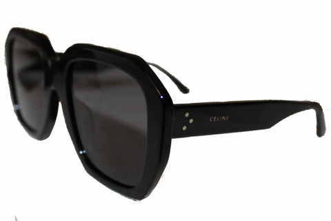 Authentic New Celine CL4005F Oversized Square Black/Grey Sunglasses