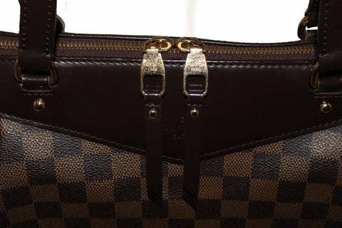 Authentic Louis Vuitton Damier Ebene Westminster MM Tote Shoulder Bag