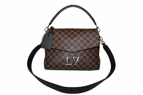 Authentic Louis Vuitton Damier Ebene Beaubourg MM Handbag/Shoulder Bag