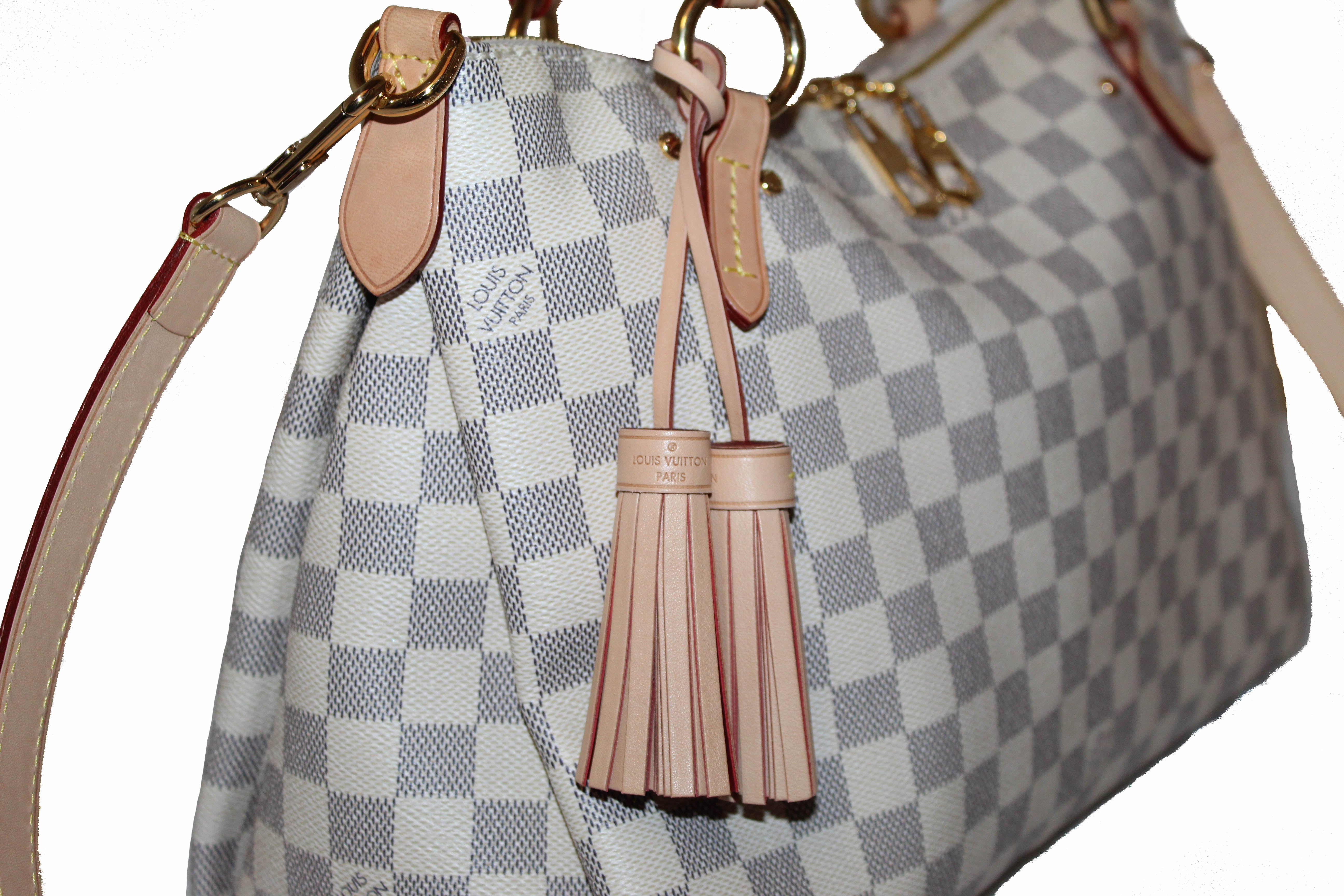 Authentic Louis Vuitton Damier Azur Lymington Tote/Crossbody Bag