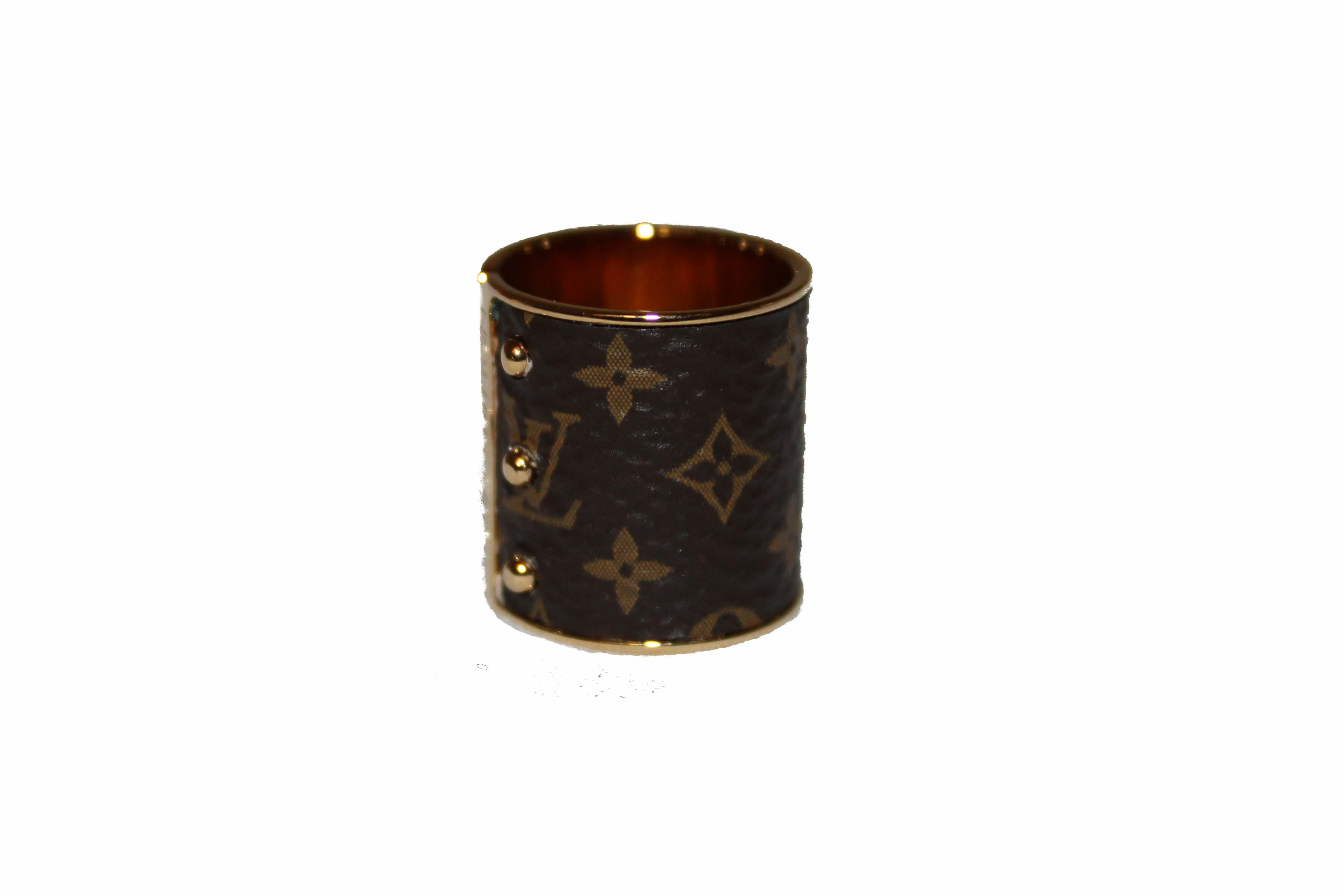 Authentic Louis Vuitton Skin Monogram Band Ring Size 4.5