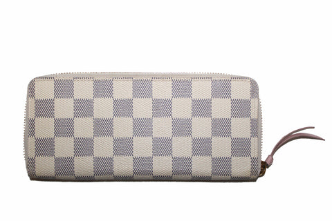 Authentic Louis Vuitton Damier Azur Clemence Wallet