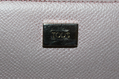 Authentic Tod's Pink Leather Card Holder
