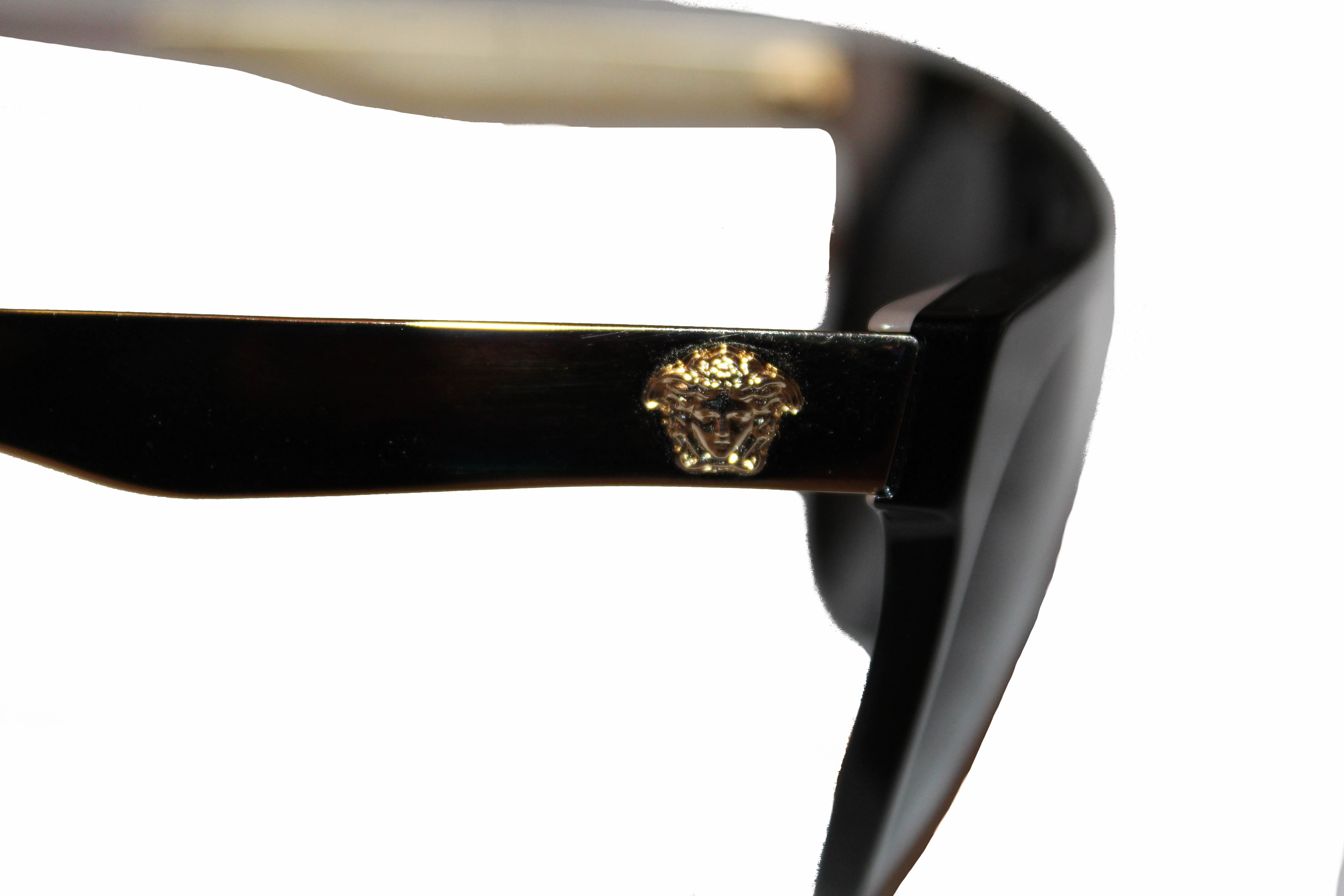 Authentic Versace Black Frame Round Sunglasses MOD. 4339