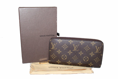 Authentic Louis Vuitton Classic Monogram Zippy Wallet