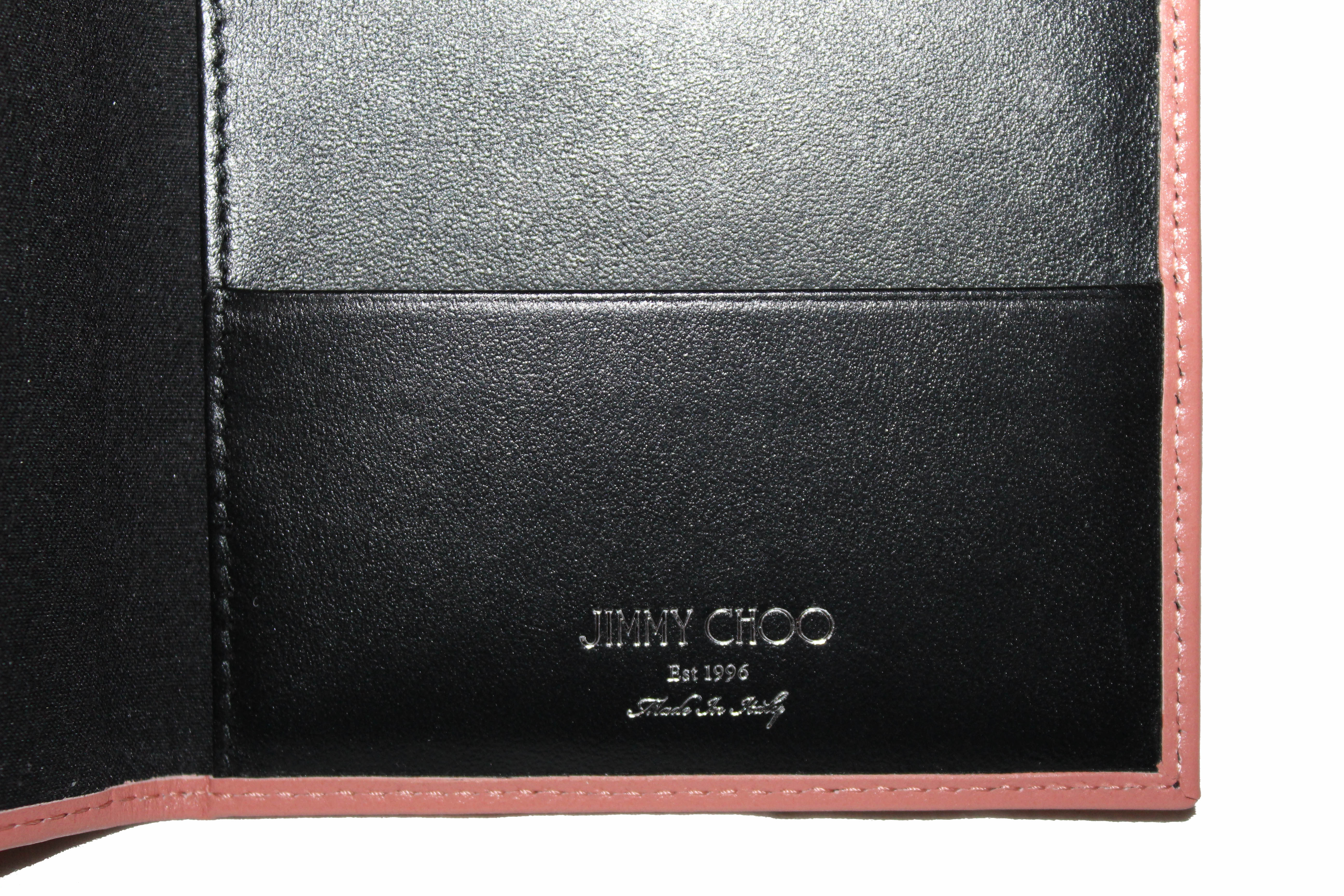 Authentic New Jimmy Choo Pink Leather Passport Holder