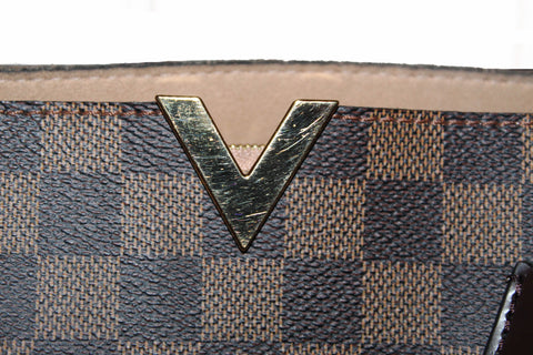 Authentic Louis Vuitton Damier Ebene Kensington Tote/Shoulder Bag