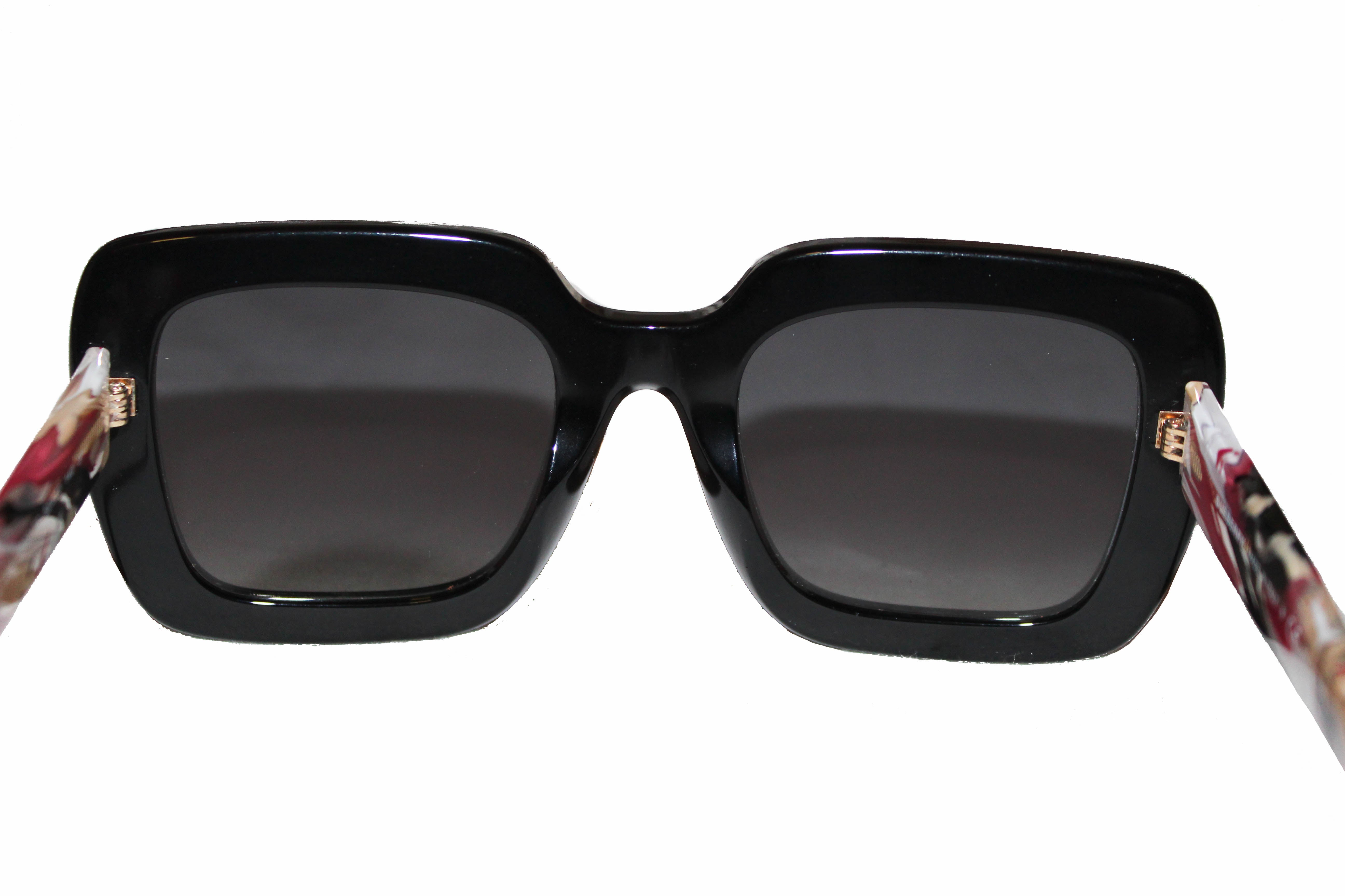 Authentic Burberry Oversized Black Square Frame Sunglasses B 4284