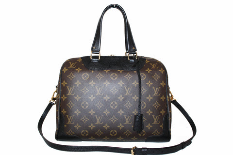 Authentic Louis Vuitton Monogram Noir Retiro NM Handbag/Shoulder Bag